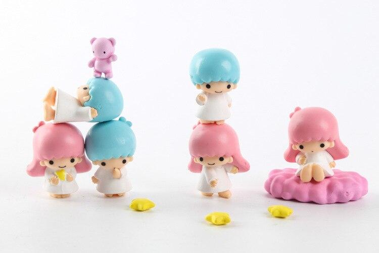 10 teile/los Niedlichen Mini Little Twin Stars Kiki Lala Action-figuren Puppen Für Mädchen Sammlung Modell Puppen Spielzeug Weihnachtsgeschenke
