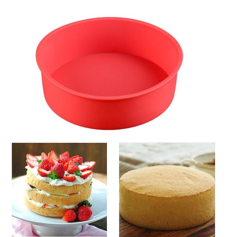 Molde de silicona redondo para pastel de 17x5,5 cm, molde Cocina Casera para hornear, Pan para cupcakes, formador de pasteles, molde de Pan DIY, herramientas para hornear