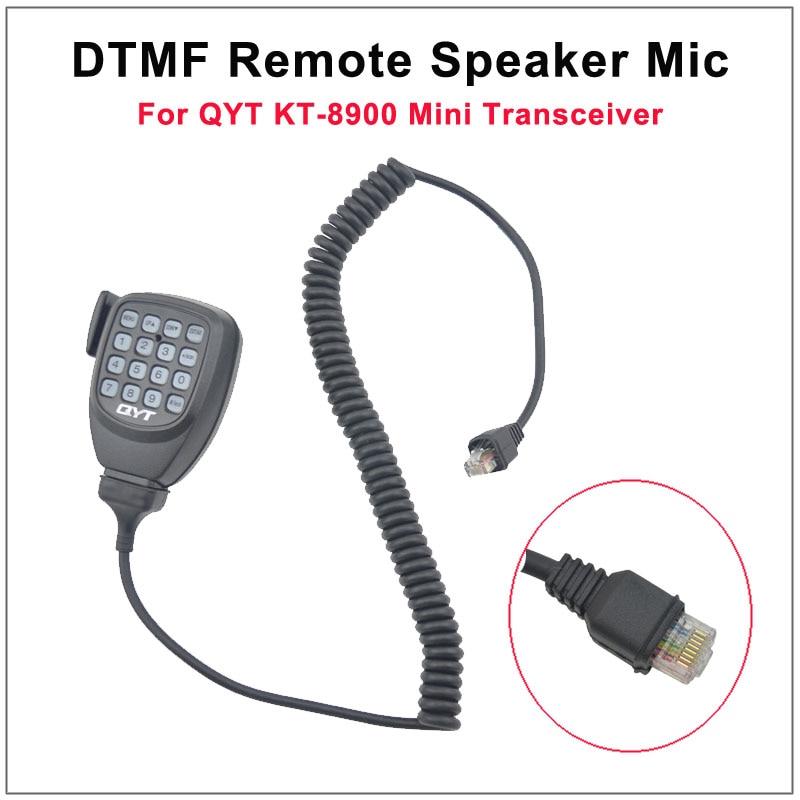 8 pines DTMF micrófono de altavoz remoto para QYT KT-8900 Mini transmisor-receptor de Radio móvil