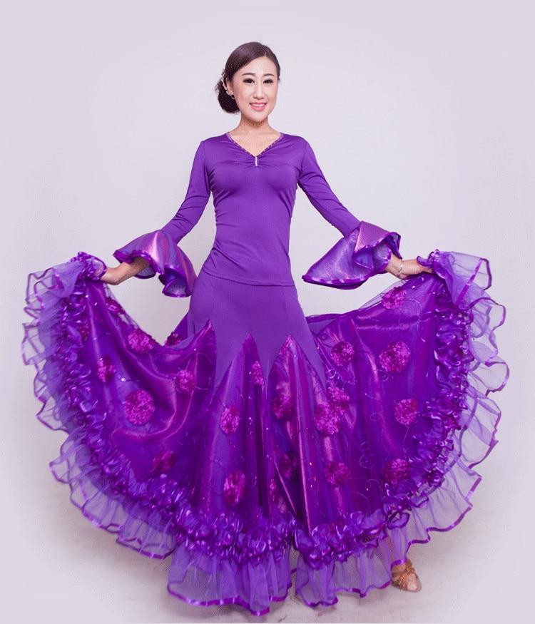 Vestidos de baile de salón para adultos en 6 colores Ropa de baile de Salón Estándar vestido de baile de competición vestido de baile vals foxtrot