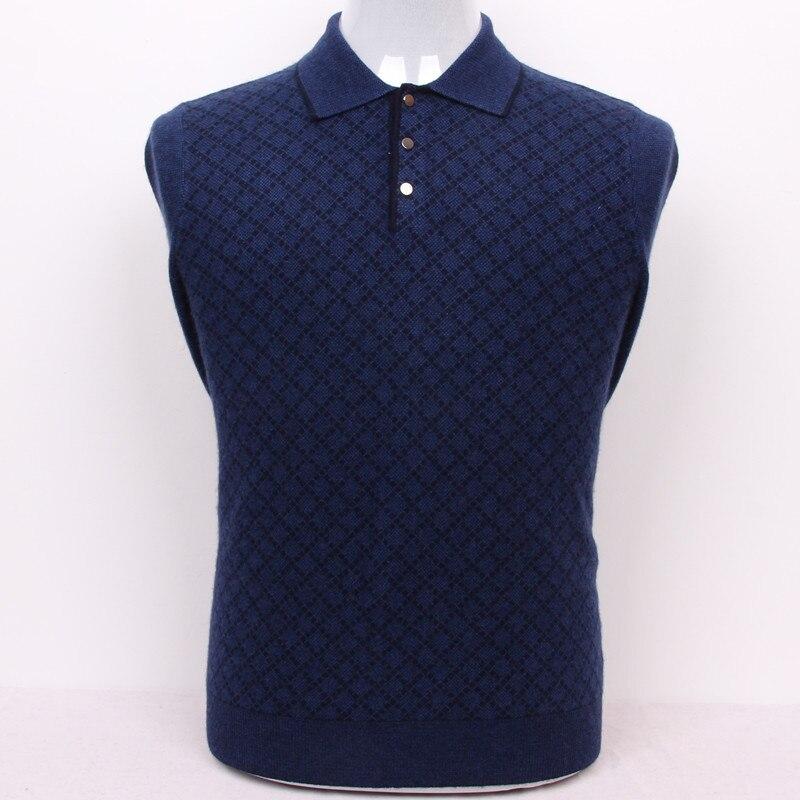 Suéter casual inteligente argyle de Cachemira 100% de talla grande para hombre, Jersey azul oscuro, 3 colores, venta al por mayor de Europa/S105-3XL130