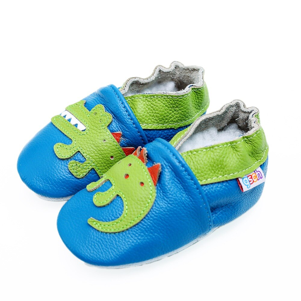 gsch Baby Boys' Crawling Slippers Infant And Toddler Pre-Walker Shoes Soft Leather Suede Sole First