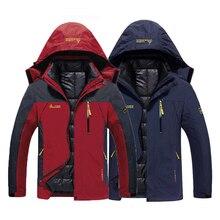 Oversize hommes hiver imperméable poisson Trekking randonnée Camp Ski escalade chaud grande taille 3 en 1 coton extérieur vestes 6XL manteau capuche