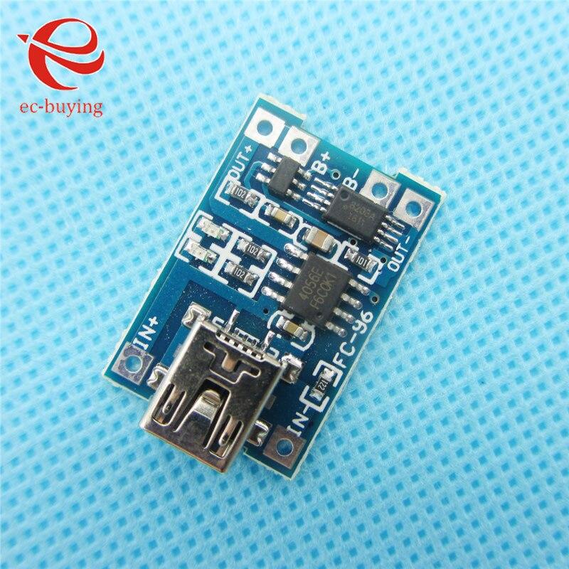 100 pçs/lote MINI USB Bateria De Lítio De Carregamento Board Módulo Charger Com Proteção TP4056 1A
