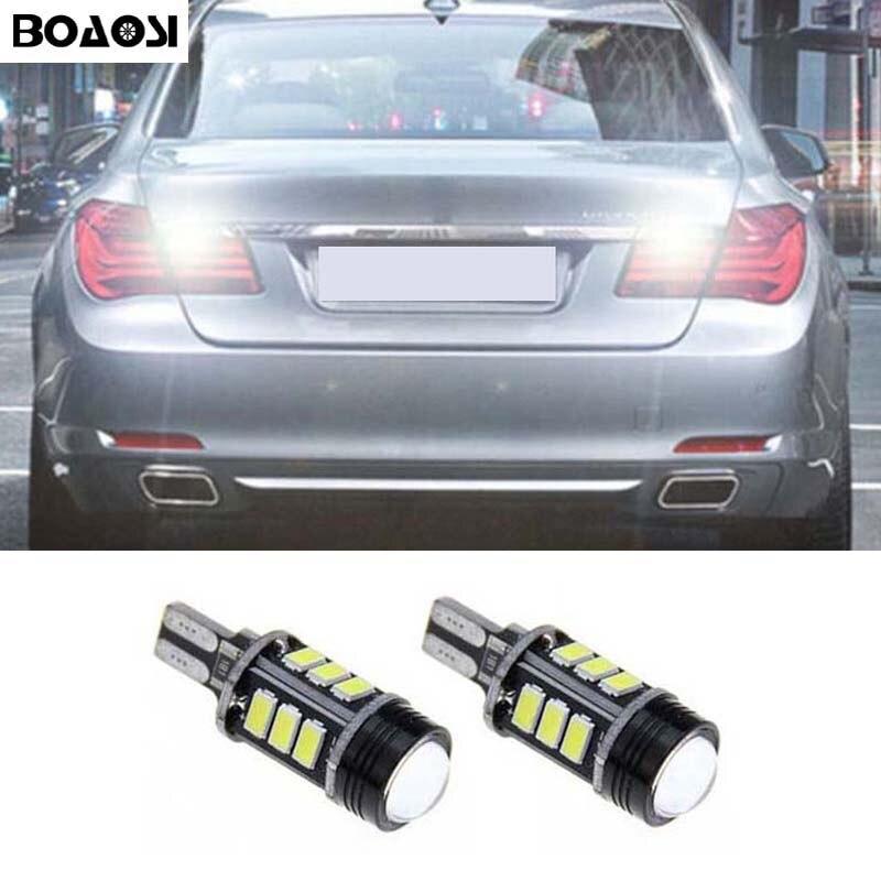 BOAOSI, 2 uds., 5630 T15 LED, Canbus, luz de marcha atrás, bombillas de respaldo de marcha atrás para BMW, Hyundai, mazda, Ford, nuevo foco, EDGE KUGA