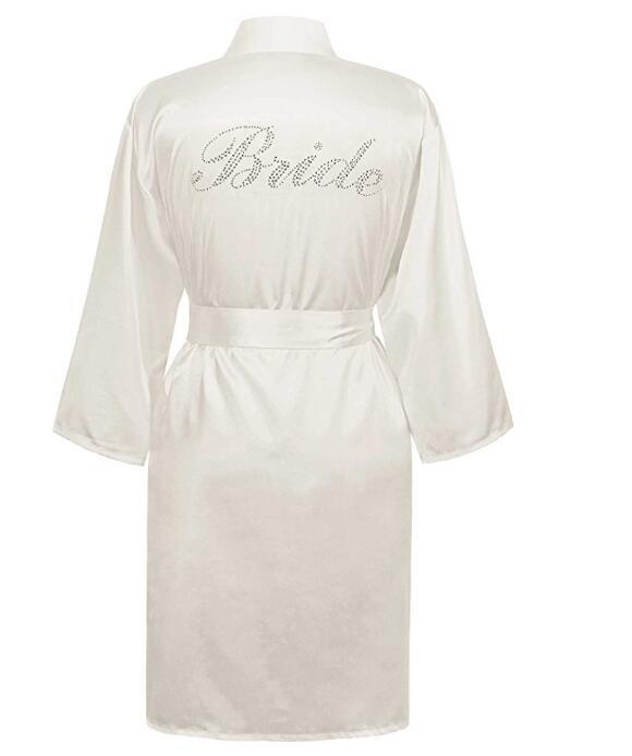 Bata Kimono para dama de honor, albornoz de muselina, para mujer Pijamas, batas de seda, Batas para el hogar para mujer, ropa, albornoz de felpa