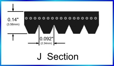 2 uds 440J8 PJ1118 440J tamaño 8 varillas tipo Poly-V cinturones