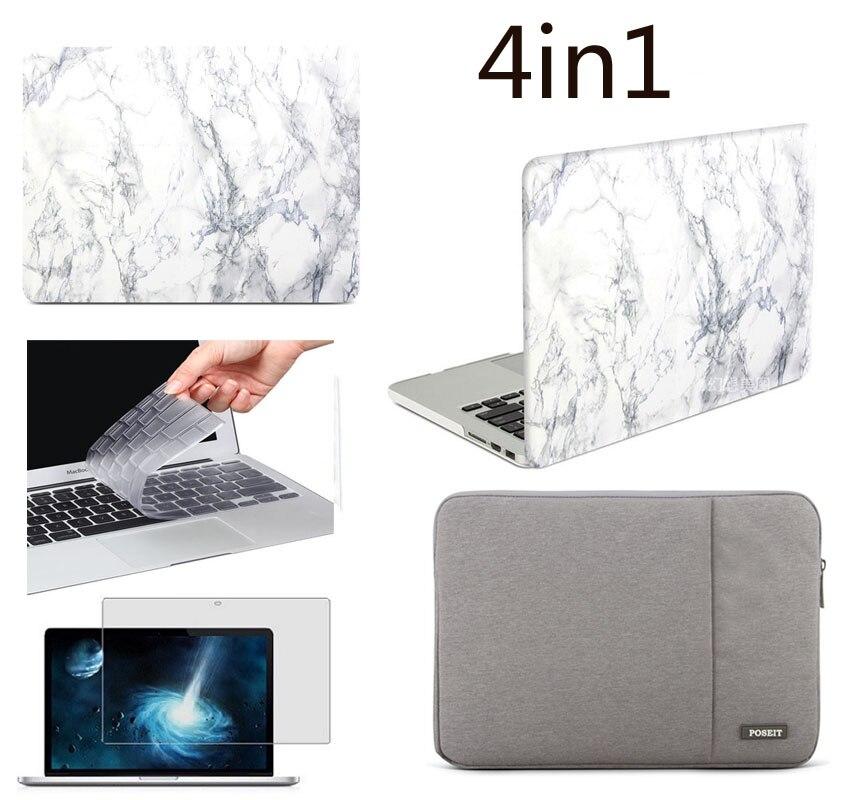 Hardshell caso duro + luva do portátil saco capa para apple macbook air 11 13 mais um teclado livre pele e protetor de tela como um presente
