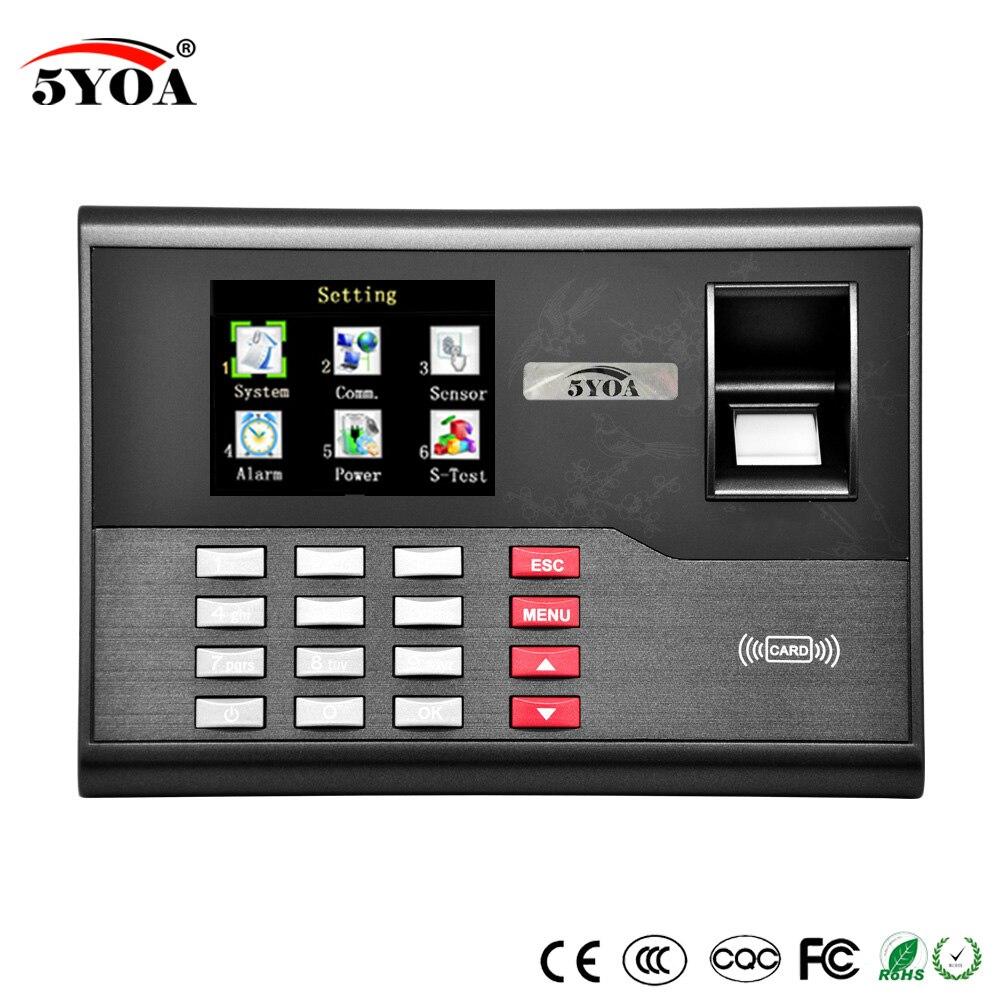 5YOA 5YA121A TCP IP биометрический цифровой электронный считыватель отпечатков пальцев и времени, USB идентификационная карта