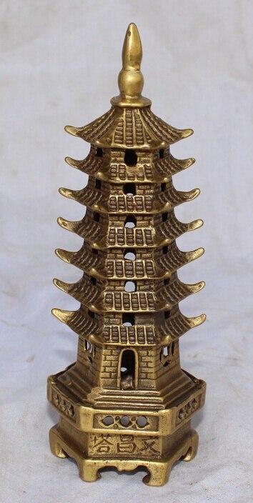 14cm budismo tibetano, Chino bronce, Budismo Stupa exorcismos estatua