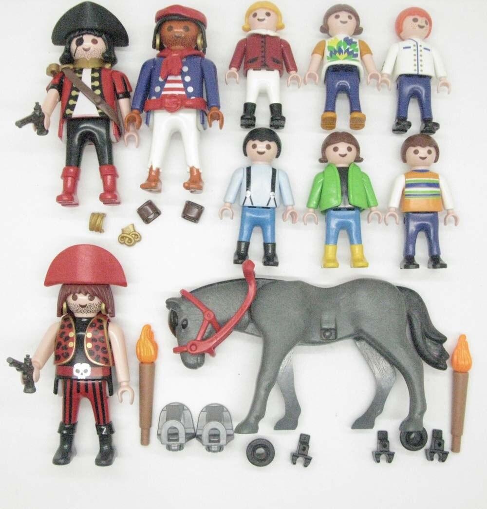 Figuras sueltas de piratas de Geobra A74W, 10 Uds., Playmobil