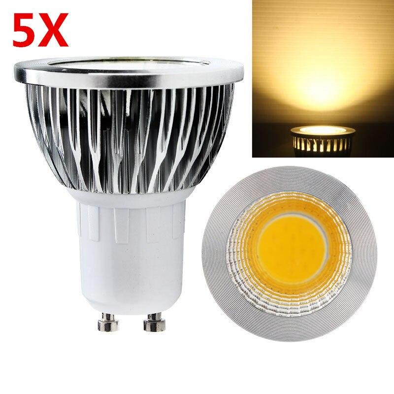 5X Super Brilhante 9 W 12 W 15 W GU10 Lâmpada LED Luzes 110 V 220 v pode ser escurecido cree led cob focos quente/natural/cool white gu10 conduziu a lâmpada