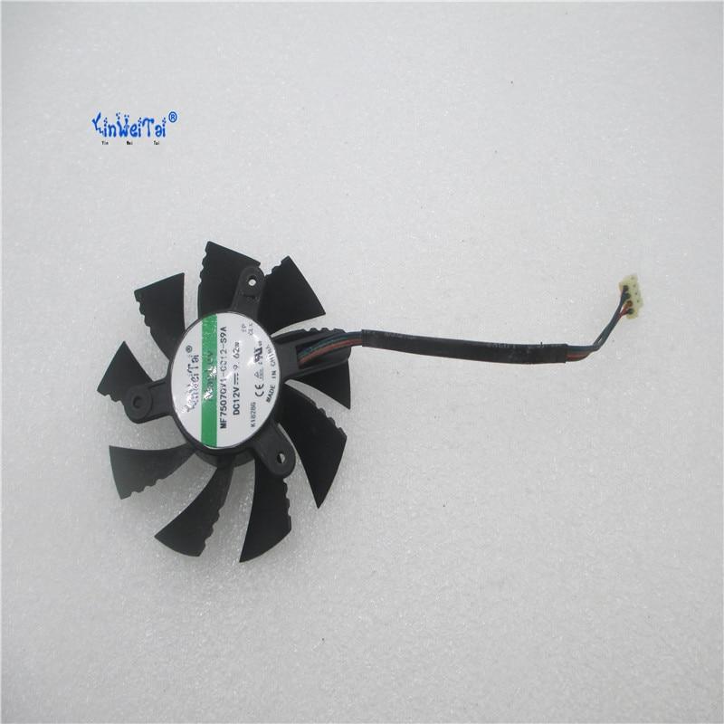 Новый вентилятор охлаждения процессора для красочных GTS450 GT630 GTX650 безщеточный кулер для ноутбука 75 мм радиаторы Вентилятор охлаждения Беспл...