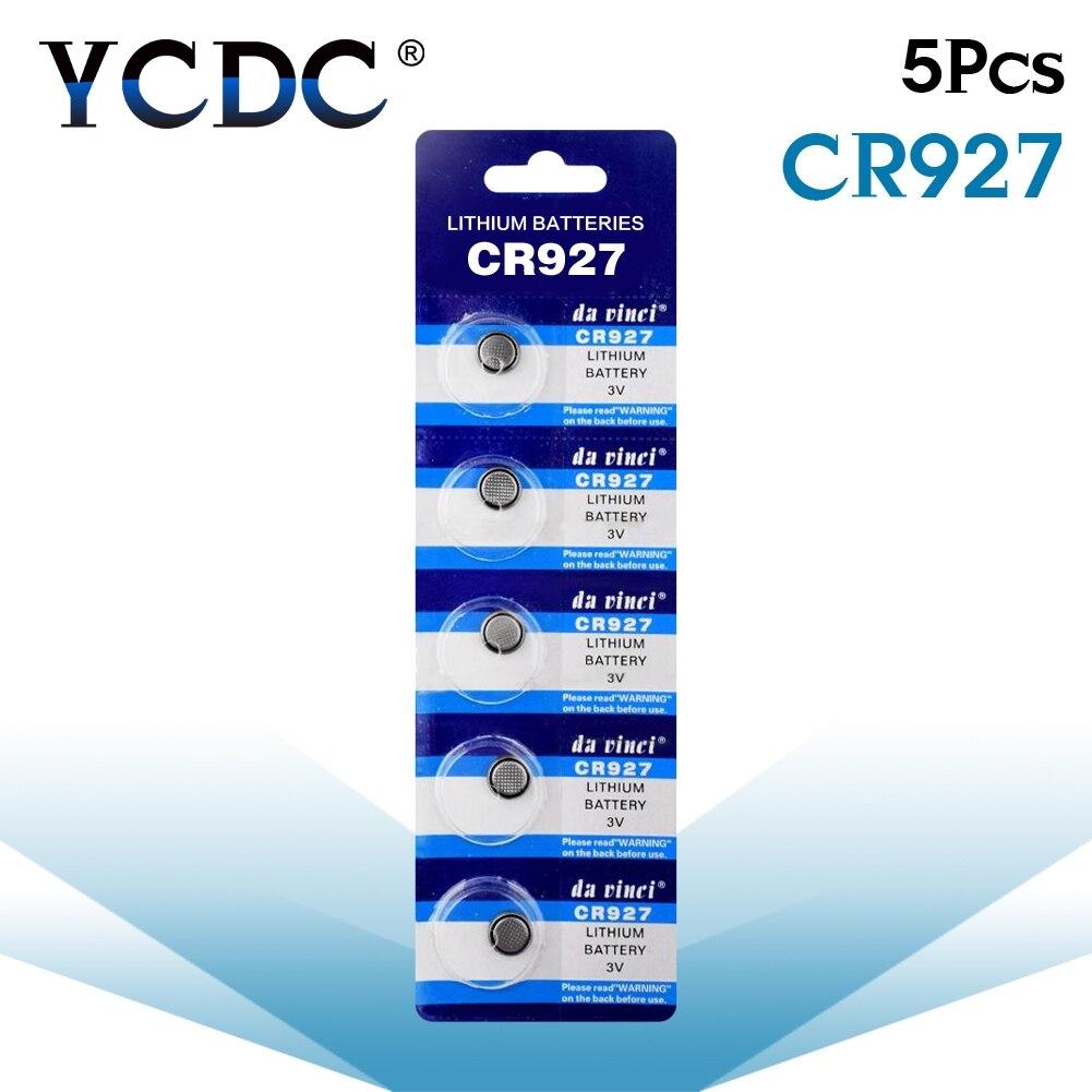 Батарейка CR927 5 шт./упак. BR927 ECR927 5011LC литиевая батарейка 3 в CR 927 DL927 для часов, электронная игрушка, пульт дистанционного управления