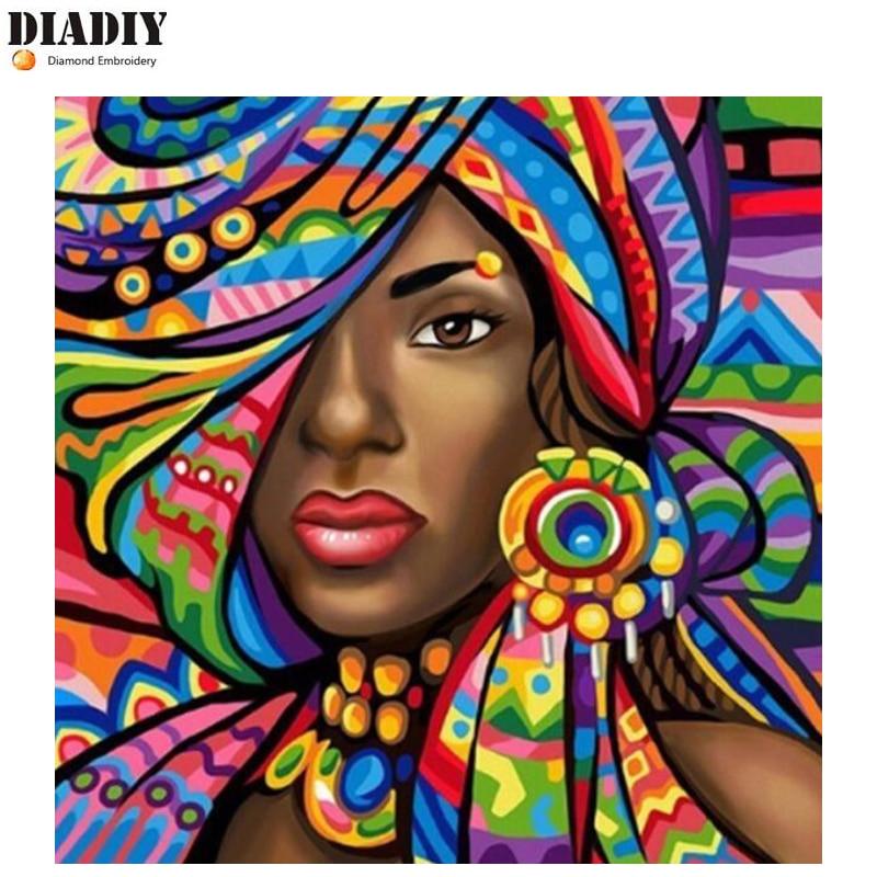 DIADIY 5D DIY Diamante Pintura Pessoas Home Decor Imagem Nação Broca Praça Cheia De Strass Diamante Mosaico Bordado Presente