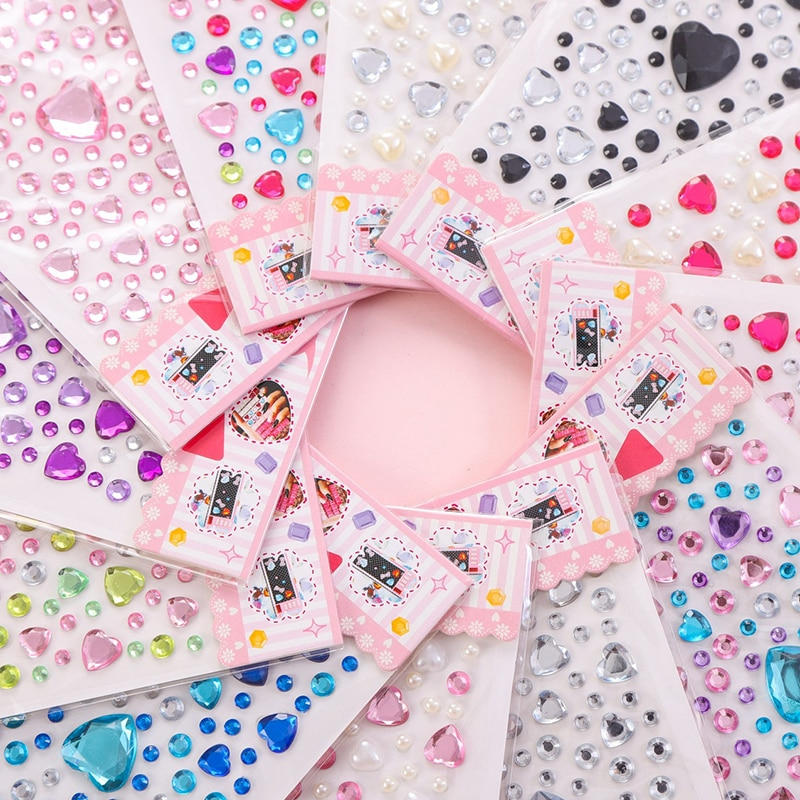 1-copriletto-a-forma-di-cuore-sticker-strass-perle-acrilico-scrapbooking-auto-libro-memo-decorazione-giocattolo-per-bambini-fai-da-te-arte-artigianato