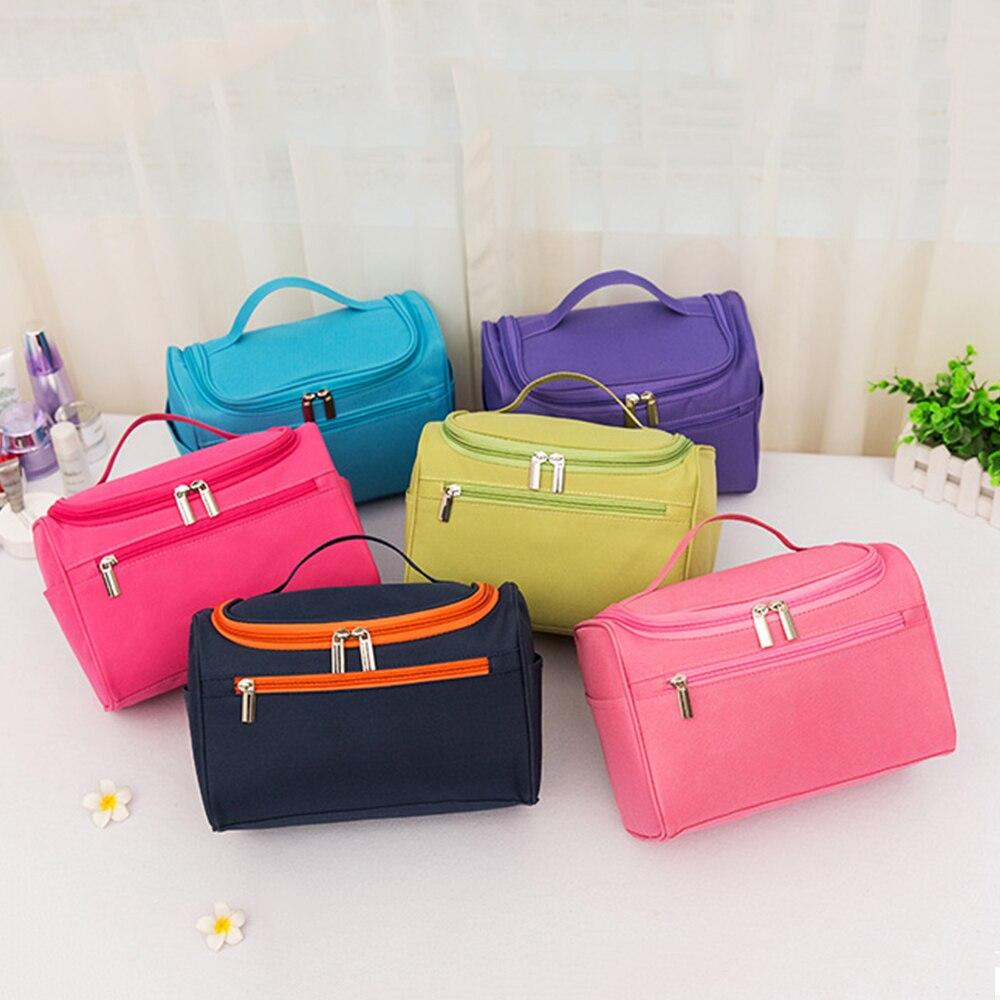 Для женщин водонепроницаемый макияж сумка-Органайзер для путешествий мешок унисекс косметичка с ручкой, для туалета Ручная стирка наборы т...