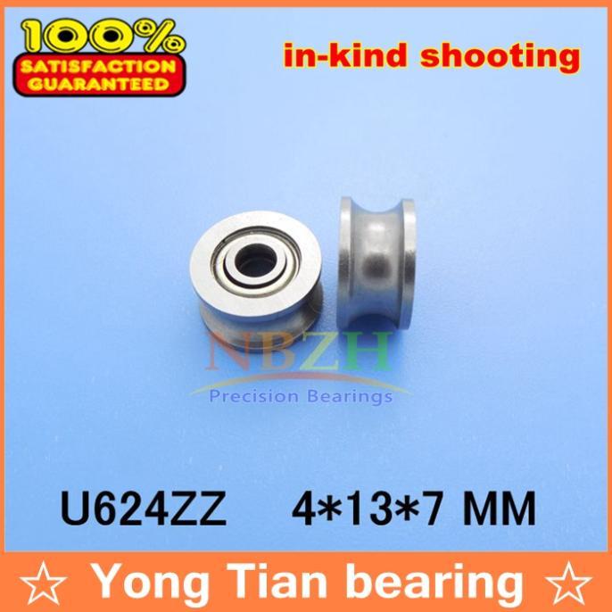 88888 U624ZZ U Groove Sealed Ball Bearings Vgroove 4 x 13 x 7 mm miniature bearing with u-shaped slot 624UU SZU4-13