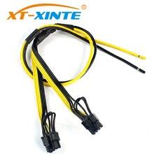 XT-XINTE double carte vidéo graphique PCIe PCI-E 8pin 6 + 2pin bricolage diviseur cordon de câble dalimentation pour Bitcoin Litecoin RIG Miner 12AWG + 18AWG