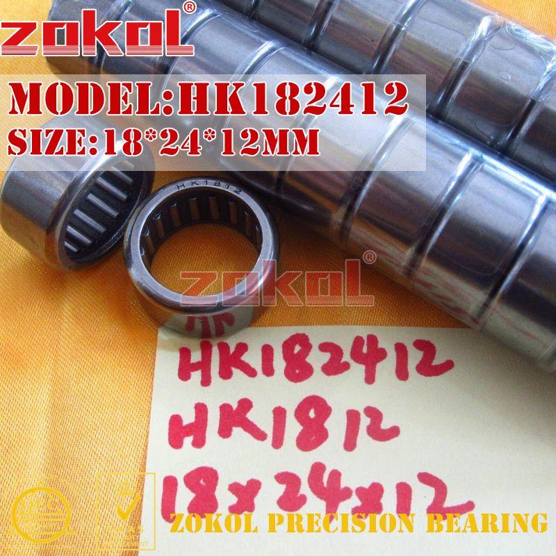 Rodamiento zokol HK182412 (HK1812) HK182416 (HK1816) HK182420 HK182425 rodamiento de rodillos de aguja 18*24*12/16/20/25mm