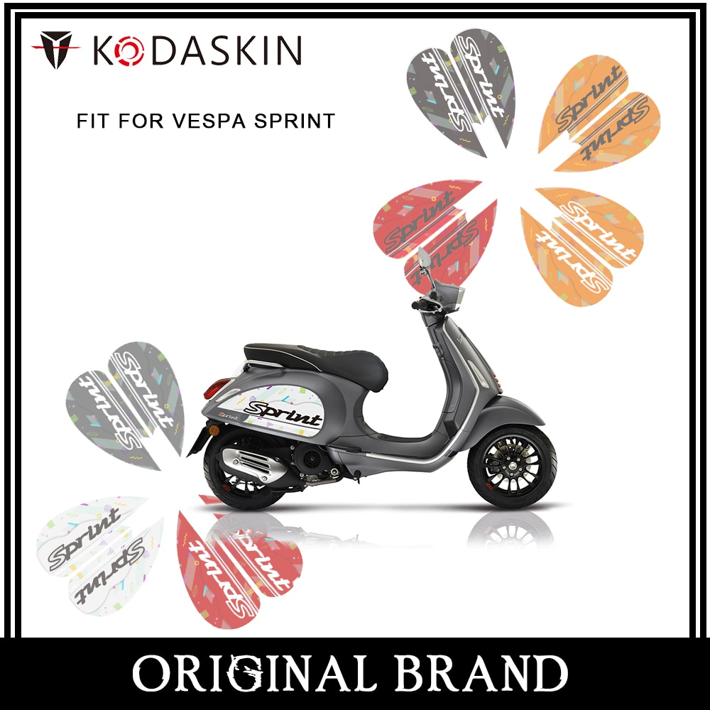 KODASKIN 2D Scooter Body Side Emblem Sticker Decal for Vespa Sprint 50 Sprint125 Sprint250 300