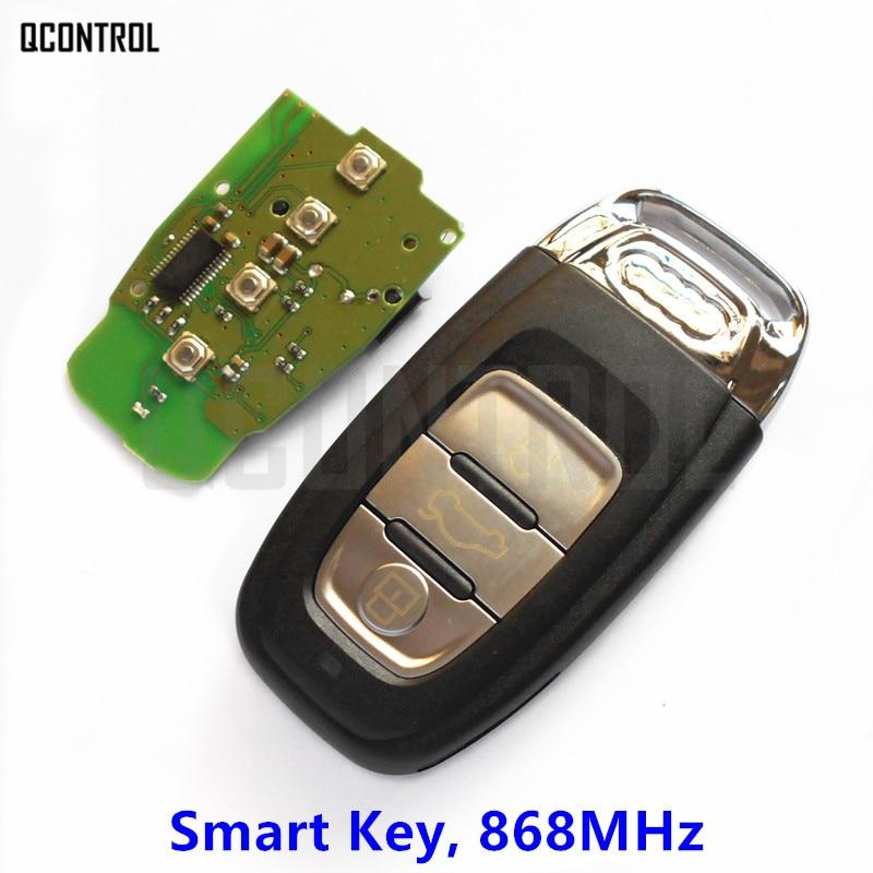 QCONTROL llave inteligente para coche ajuste remoto para Audi 2007-2016 A4/S4/A5/S5/Q5 868MHz alarma de Control de cerradura de puerta