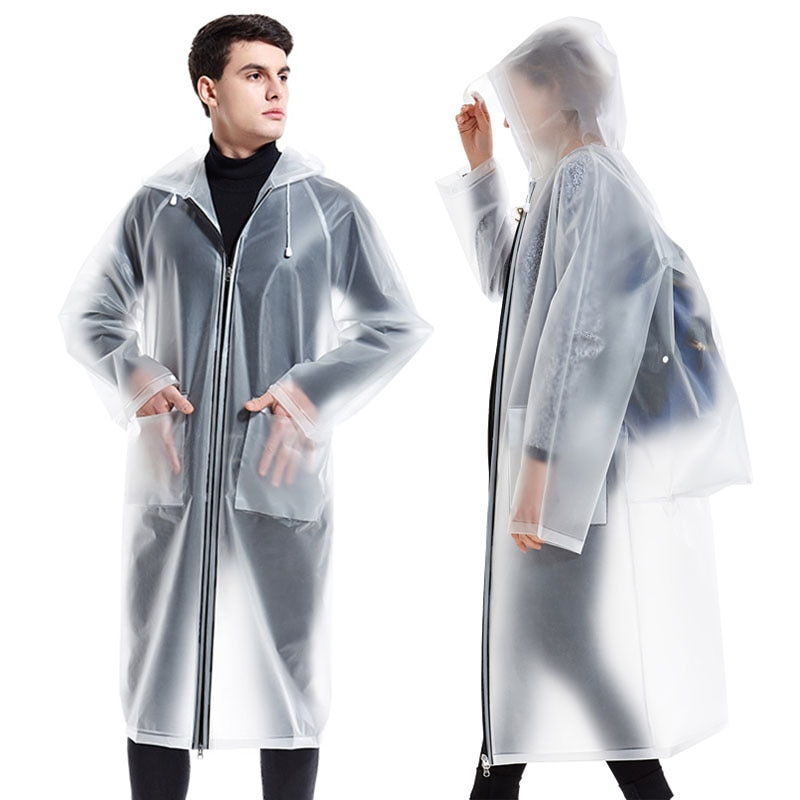 Yuding-chubasquero transparente impermeable con cremallera para hombre y Mujer, impermeable, impermeable, mochila...