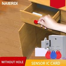 NAIERDI Invisible de bloqueo EMID tarjeta IC cajón gabinete Digital inteligente cerraduras electrónicas para armario de Hardware de muebles
