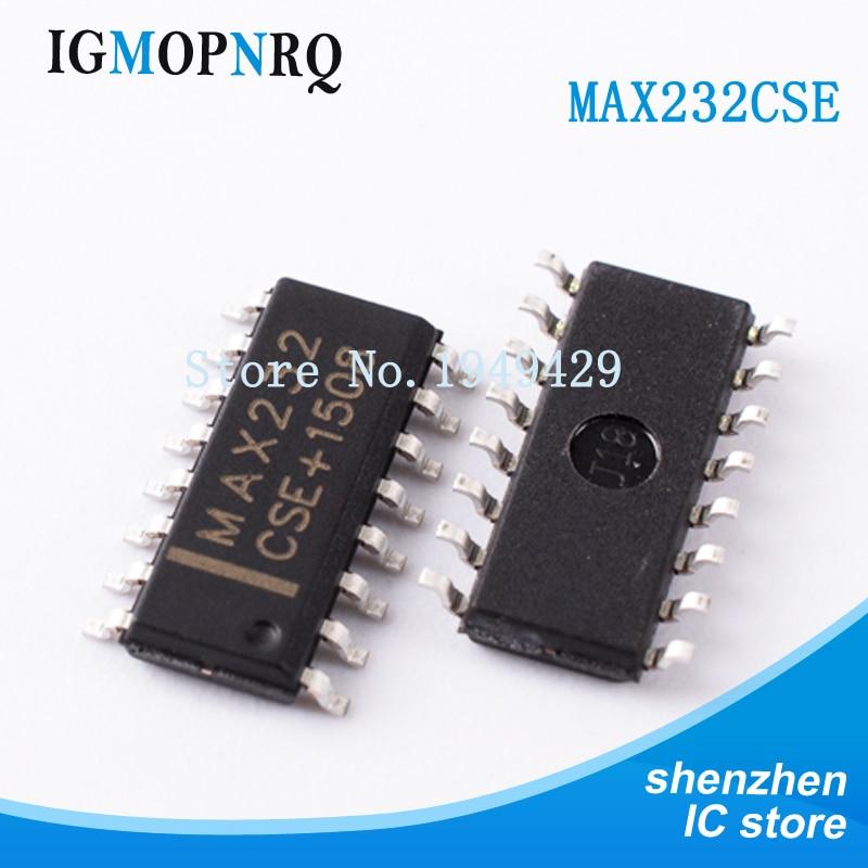 100 unids/lote MAX232CSE SOP16 MAX232 RS-232 interfaz IC 5V en placa MultiCh RS-232 controlador/receptor