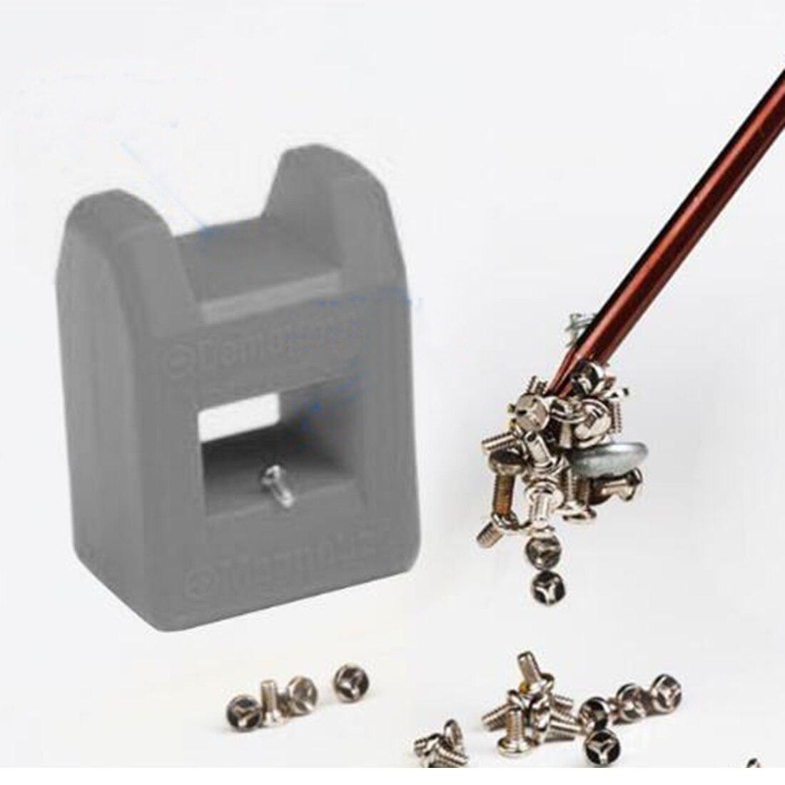 2 em 1 rápida chave de fenda magnetizador 1 pc mini magnetizador ferramenta desmagnetizador chave de fenda aço inoxidável magnetizador