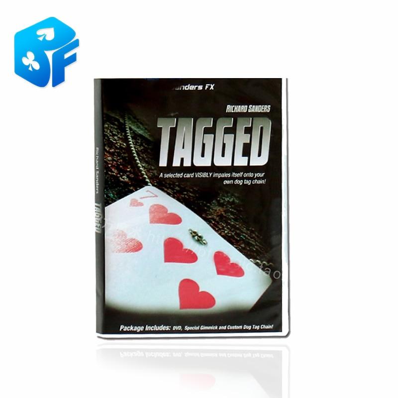 Etiquetado Tarjeta de magia envío gratis etiquetado collar nudo encontrar tarjeta caja de embalaje solo el truco