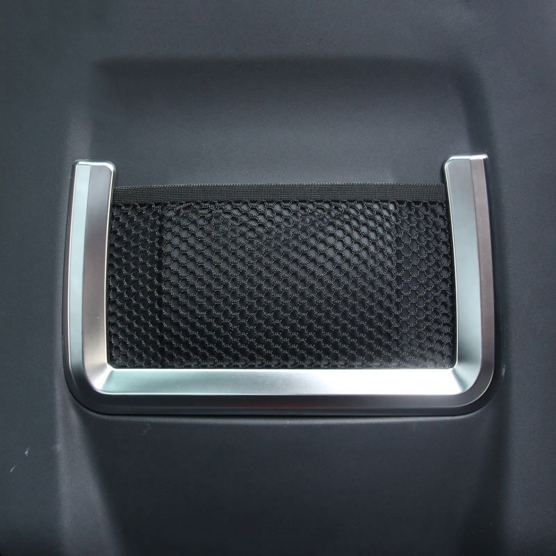 Moldura traseira para interior de carro, tampa com acabamento abs cromado para land rover range rover evoque 2012-2019 conjunto de acessórios 2 peças