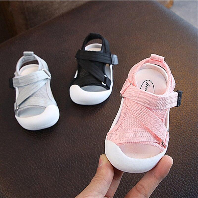 DIMI 2020 Sommer Infant Kleinkind Schuhe Baby Mädchen Jungen Kleinkind Sandalen Nicht-Slip Atmungsaktive Soft Kid Anti-kollision schuhe