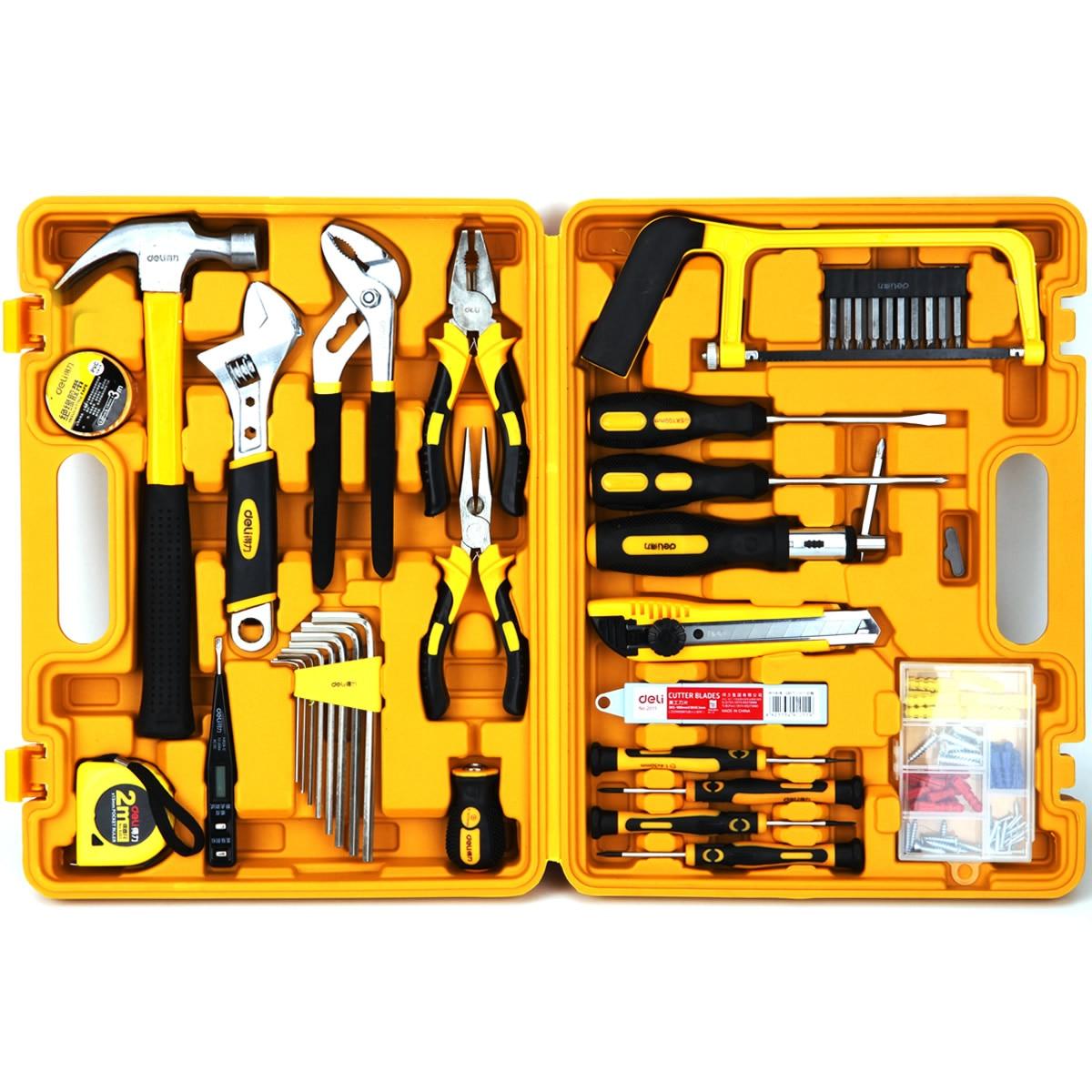 Multi-purpose Combination Tool Set Household Toolbox Hardware Tool Set 53-piece Tool Set Electrical 3703 enlarge
