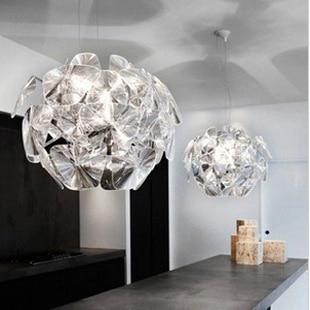 Chaqueta acrílica creativa moderna con láser lámpara de araña con hojas pineal Proyecto de sala de clubs de hotel de lujo