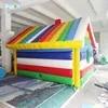 PVC חומר Usecolorful אוהל עם צורת בית ססגוני מתנפח קמפינג אוהל עם חלון