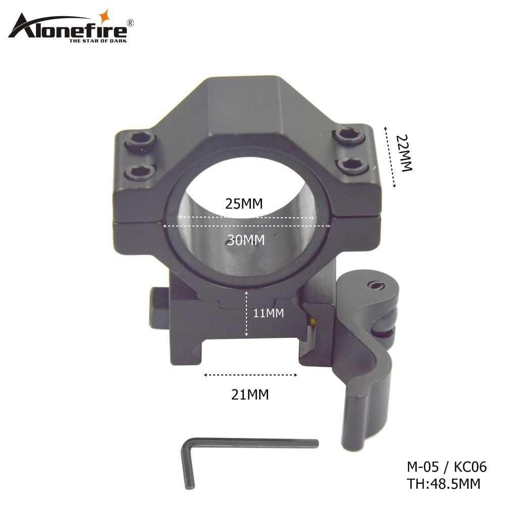 AloneFire M-05 hunting accessories 21mm rail Tactical Mount gun picatinny 25/30mm ring tactical Quic