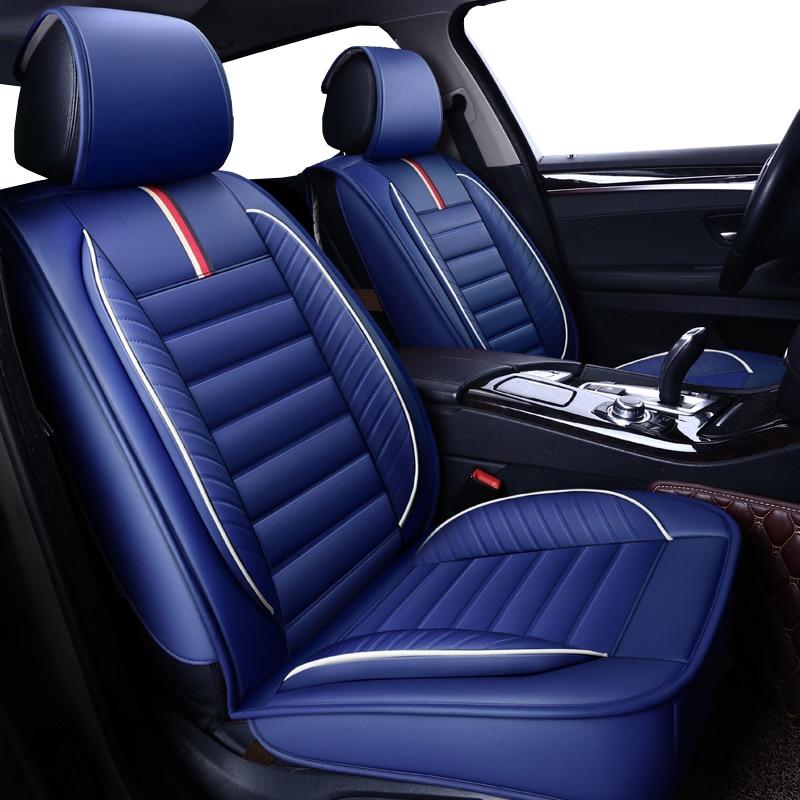 High quality PU Leather car seat covers for ford focus 2 bmw e60 chevrolet cruze vw golf mk2 passat cc kia sportage chrysler