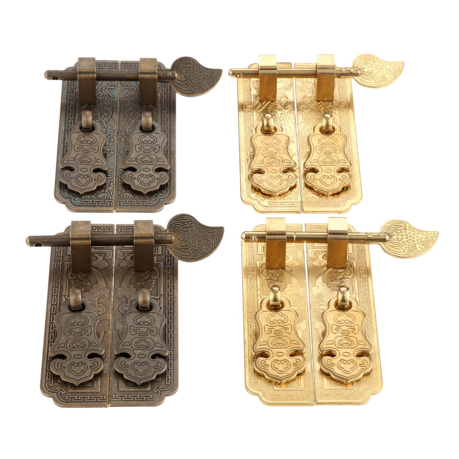 DRELD 1 par 100*26mm antigüedad China muebles manija cobre accesorios armario puerta cobre redondo Tirador