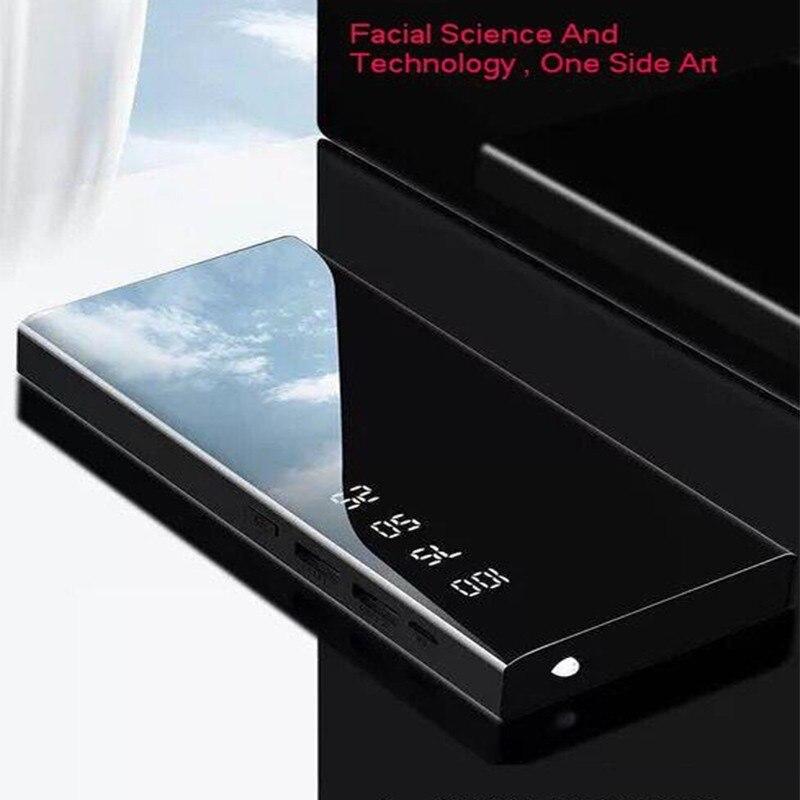 Vogek 10000 mAh, pantalla digital Banco de la energía de carga portátil banco de energía de batería externo Delgado paquete espejo completo de tesoro de carga
