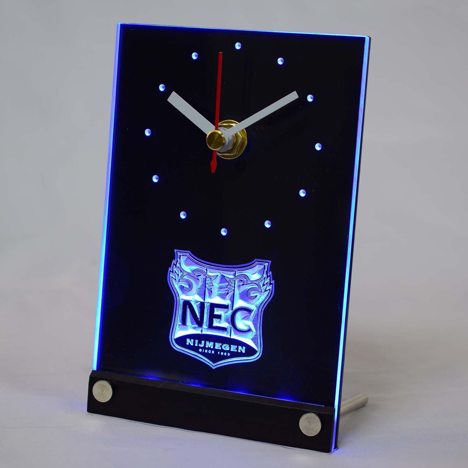 Tnc1020 NEC Nijmegen Eredivisie, Fútbol 3D LED reloj de mesa escritorio