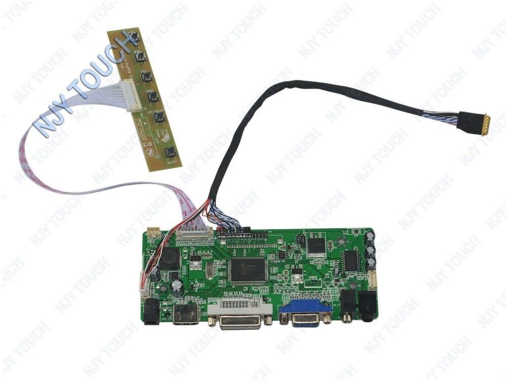Free shipping HDMI DVI VGA LCD Controller Board DIY Kit For B156XTN02.0 B156XW06 V0 1366x768 Panel
