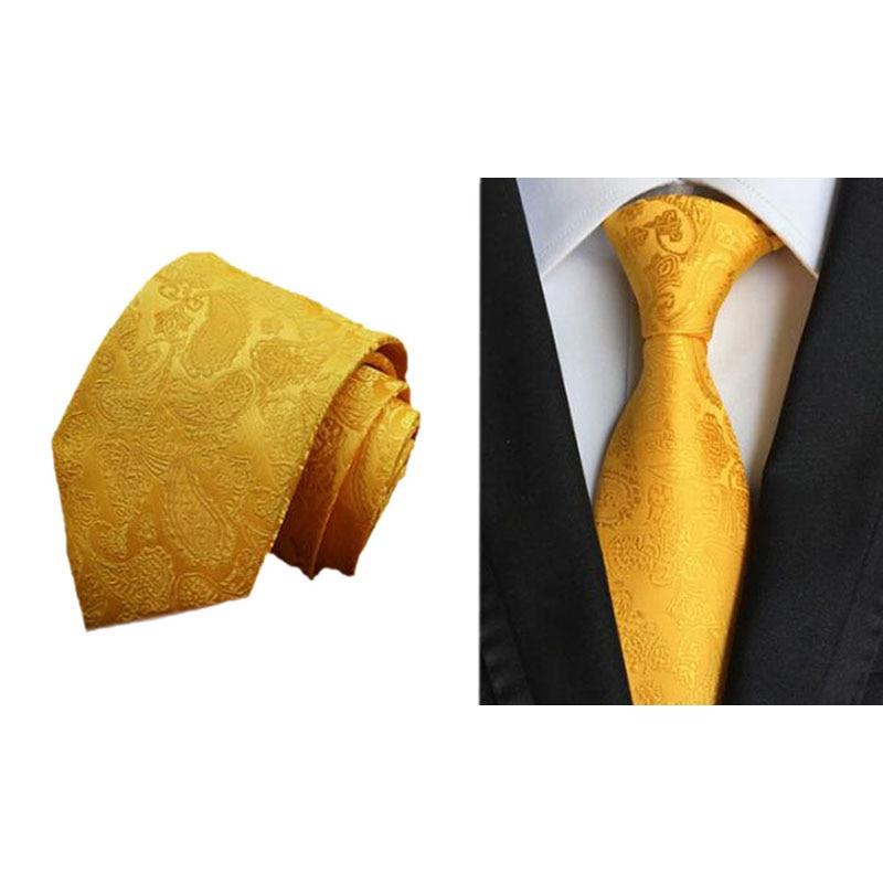 Classic Men's Ties 100% Silk Necktie Colorful Paisley Jacquard Woven Wedding Party Prom Necktie Neck Tie Accessories For Men