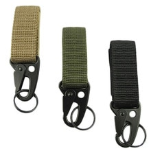 Gancho de hebilla de Nylon militar para exteriores, soporte de botella de agua, Clip EDC mosquetón de escalada, cinturón, mochila, suspensión de campamento