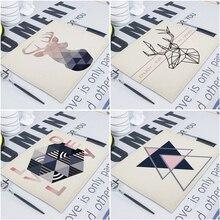 Serviettes de cuisine en lin motif géométrique   Tissu rectangulaire, serviettes de Table, serviettes de Table, papier décoratif pour mariage