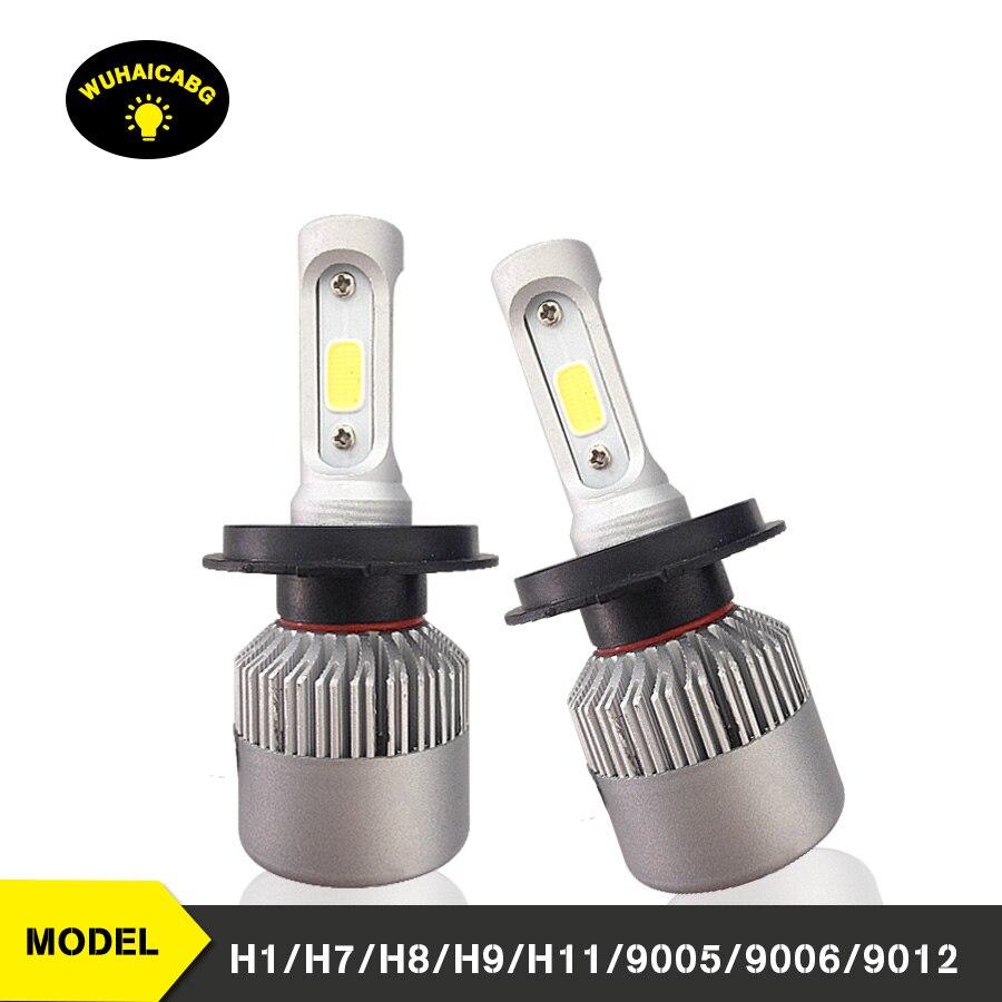 Bombillas de faros LED 9600Lm H1 H4 H11 H7 9005, 9006 de 9012 4800LM 6000K