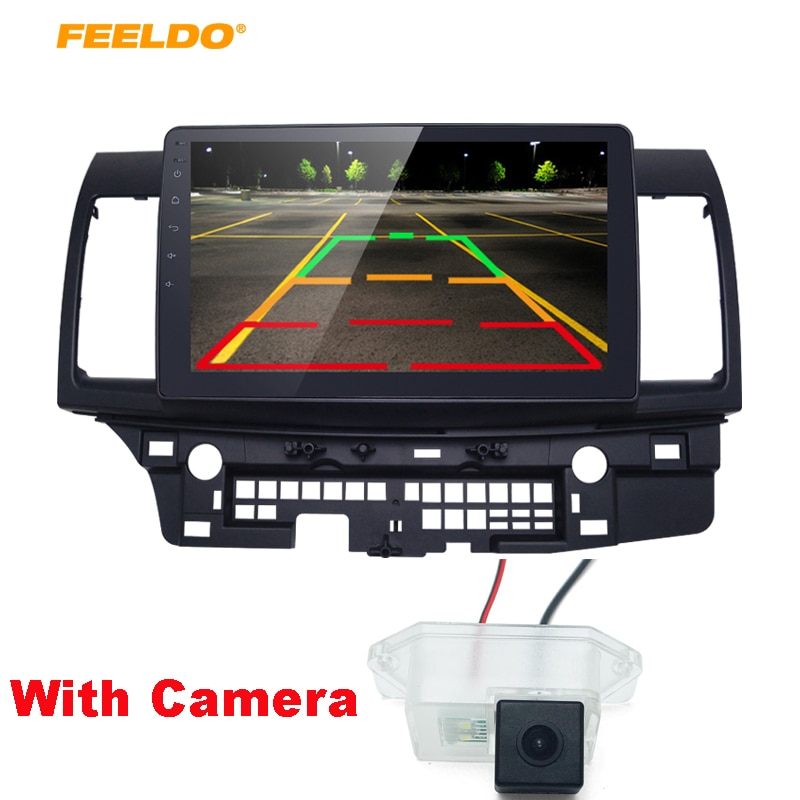 "FEELDO 10,2 "", Android 6,0, Quad Cord, reproductor estéreo de GPS para coche para Mitsubishi Lancer EX navi, navegador, radio, Unidad Principal navi 1024*600"