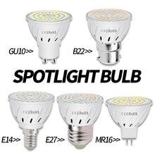 12 piezas MR16 bombilla LED 220V bombilla de maíz E27 foco LED COB GU10 lámpara LED 3W 5W 7W luz del punto E14 ampolla B22 luz GU5.3 2835SMD