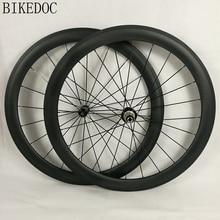 BIKEDOC Carbonräder Klammer 700C Gerade Pull R36 Nabe Roue Carbone 50 MM Pneu Räder Rennrad 25 MM Breite U Form