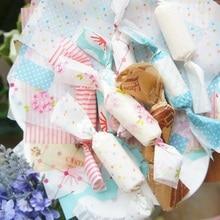 Emballage Taffy au chocolat 9*12.5cm 100 pièces   Nouveau style mélange de papier cire, pour cadeau de mariage noël, décoration de cadeau adorable de fête